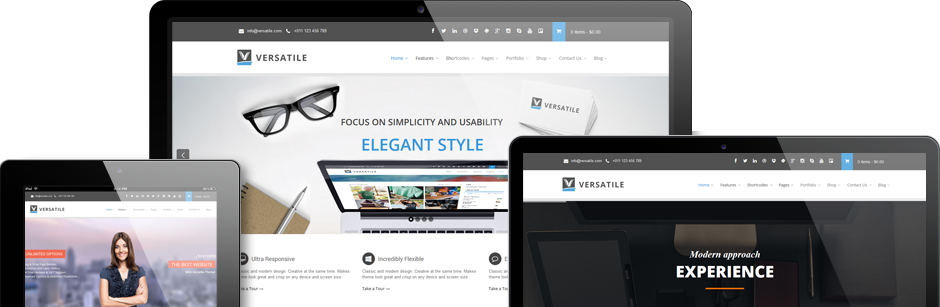 Versatile - The Original Multi-Purpose & E-Commerce WordPress Theme