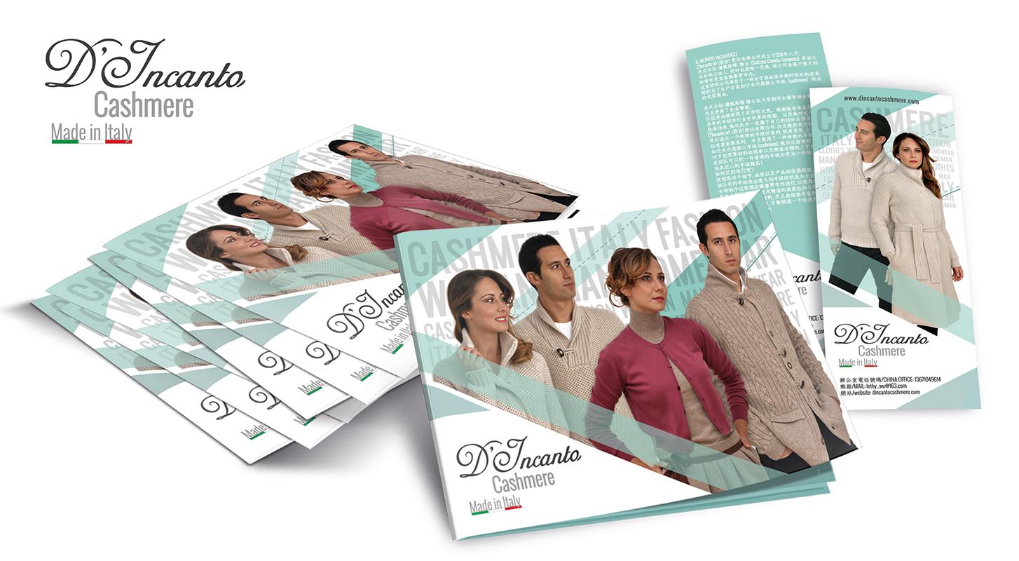 Brochure e cartolina D'incanto Cashmere