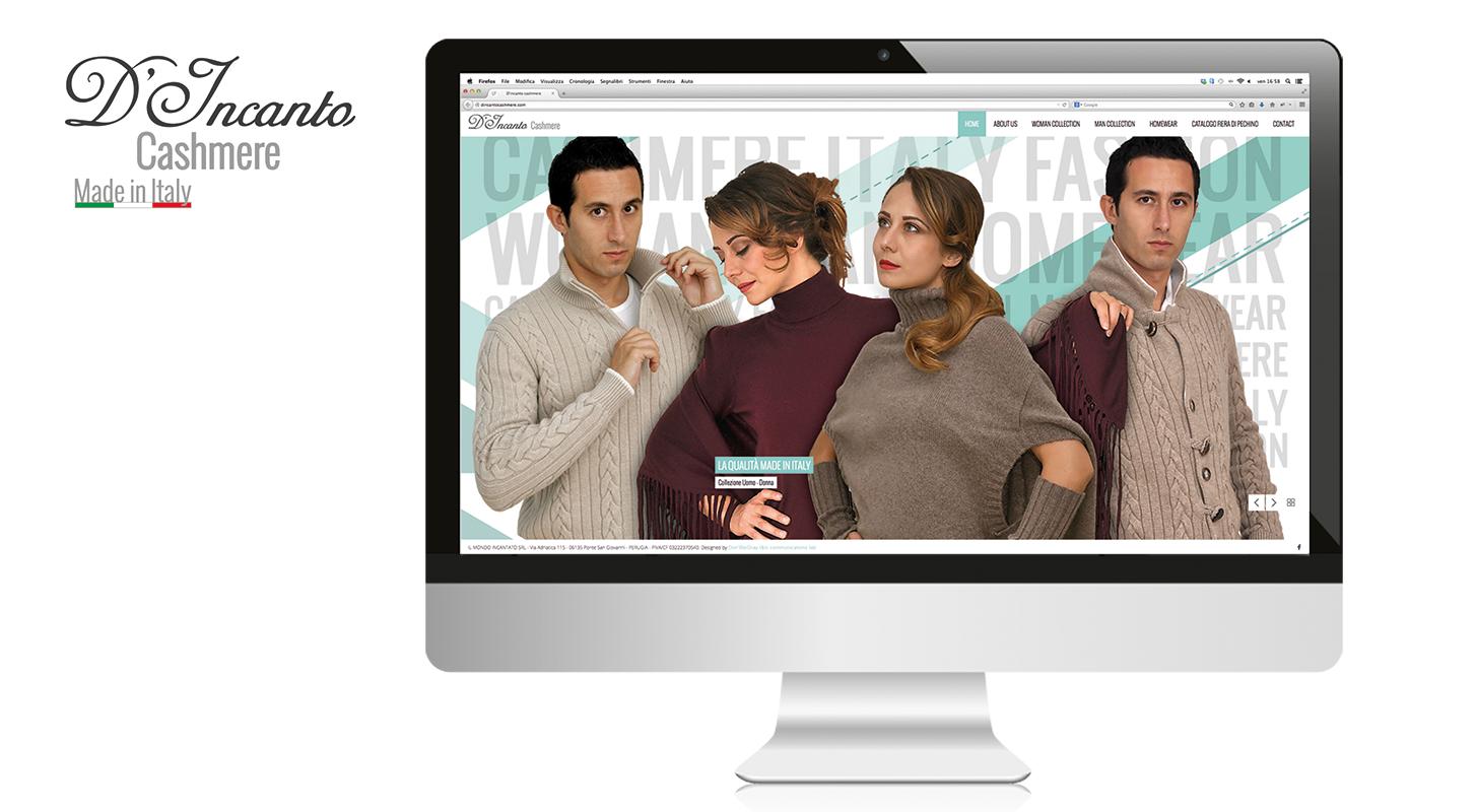 Web site D'incanto Cashmere