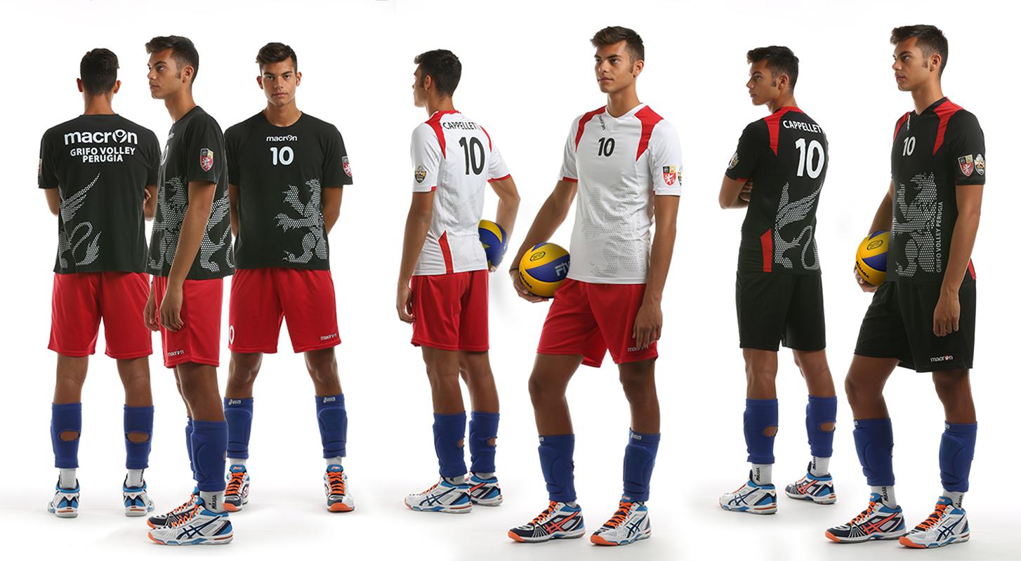 Divisa pre-gara, gara in trasferta e gara in casa Grifo Volley Perugia