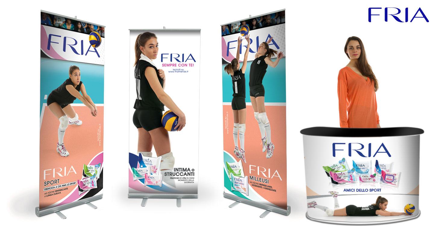 Stand Fria per Robur Tiboni Urbino Volley Femminile A1